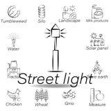 De straatlantaarnhand trekt pictogram Element van de landbouw van illustratiepictogrammen De tekens en de symbolen kunnen voor We vector illustratie