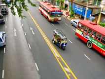De straatmening van Bangkok met   Royalty-vrije Stock Foto's
