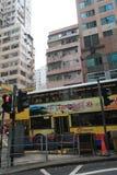 De straatmening van de verhoogde wegbaai in Hong Kong Stock Fotografie