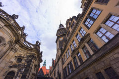 De straatmening van Dresden Stock Afbeeldingen