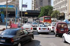 De straatmening van Egypte Kaïro Stock Afbeelding