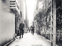 De straatmening van HK Royalty-vrije Stock Foto
