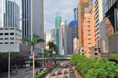 De straatmening van Hongkong stock afbeelding