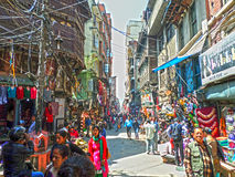 De straatmening van Katmandu Stock Foto's