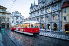 De straatmening van Praag stock foto