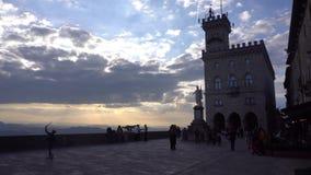 De straatmening van San Marino stock video