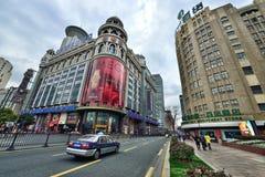 De Straatmening van Shanghai stock fotografie