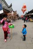 De straatmening in yuantongstad in Sichuan, China Stock Foto