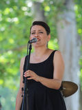 De Straatmusicus van Zagreb/Dame Sings stock afbeeldingen