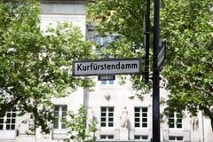 De straatnaam van Kudamm- Stock Afbeeldingen