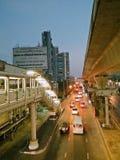 De Straatochtend van Bangkok Stock Afbeeldingen