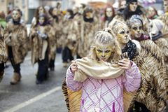 De straatparade van Carnaval - Frankfurt, Februari 2010 Royalty-vrije Stock Afbeeldingen