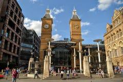 De Straatpost Londen van Liverpool Stock Afbeeldingen