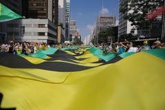 De straatprotest 12 April 2015 São Paulo van Brazilië Royalty-vrije Stock Fotografie