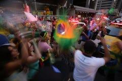 De straatprotest Maart 2016 São Paulo van Brazilië Stock Fotografie