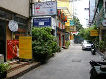 De straatscène van Bangkok Royalty-vrije Stock Foto's