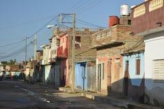 DE STRAATscène VAN CUBA TRINIDAD Stock Foto's