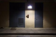 De straatscène van de nacht Royalty-vrije Stock Afbeelding
