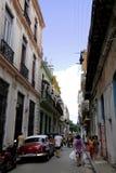 DE STRAATscène VAN HAVANA CUBA Stock Afbeeldingen