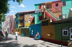 De straatscène van La Boca royalty-vrije stock fotografie