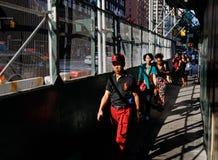 De straatscène van Manhattan stock fotografie