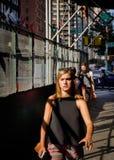 De straatscène van Manhattan royalty-vrije stock foto