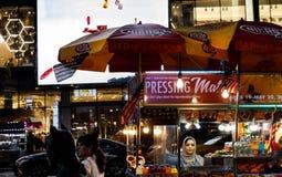 De straatscène van Manhattan royalty-vrije stock fotografie