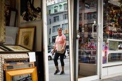 De straatscène van Manhattan stock afbeelding