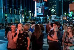 De straatscène van Manhattan royalty-vrije stock afbeeldingen