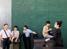 De straatscène van Manhattan royalty-vrije stock afbeelding