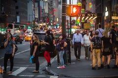 De straatscène van Manhattan stock foto's