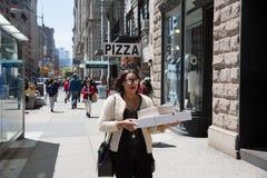 De straatscène van Manhattan, NYC Stock Foto's