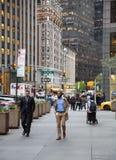De straatscène van Manhattan, NYC stock fotografie