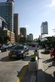 De straatscène van Seoel, Zuid-Korea Stock Foto's