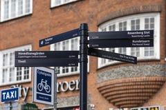 De straatsignaal van Kopenhagen Stock Afbeelding