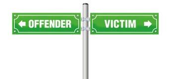 De Straatteken van het overtrederslachtoffer vector illustratie