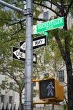 De straatteken van New York Stock Afbeeldingen