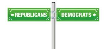 De Straatteken van republikeinendemocraten royalty-vrije illustratie