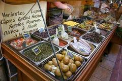De straattribune van groenten in het zuur Stock Foto