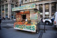 De straatventer van New York Stock Afbeeldingen