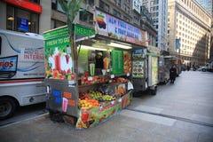 De straatventer van New York Stock Fotografie