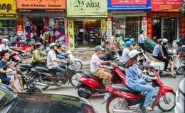 De Straatverkeer van Vietnam Stock Foto's