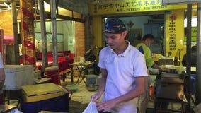 De straatvoedsel van Taipeh stock videobeelden