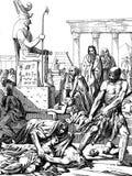 De Straf van de Egyptenaren Plagen van Egypte stock illustratie