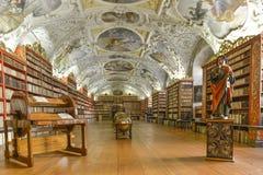 De Strahov-bibliotheek in Praag Stock Afbeeldingen