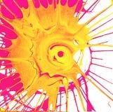 De stralen van de cirkelzon kleurden multicolored plonsen op een witte achtergrond stock foto