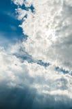 De Stralen van de de zomerzonneschijn Royalty-vrije Stock Afbeeldingen