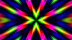 De Stralen van de kleurenexplosie van Licht Stock Foto's