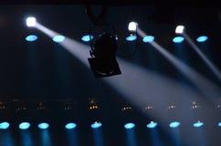 De stralen van de lichten wanneer licht tonen Royalty-vrije Stock Afbeeldingen