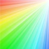 De Stralen van de regenboog Stock Afbeelding